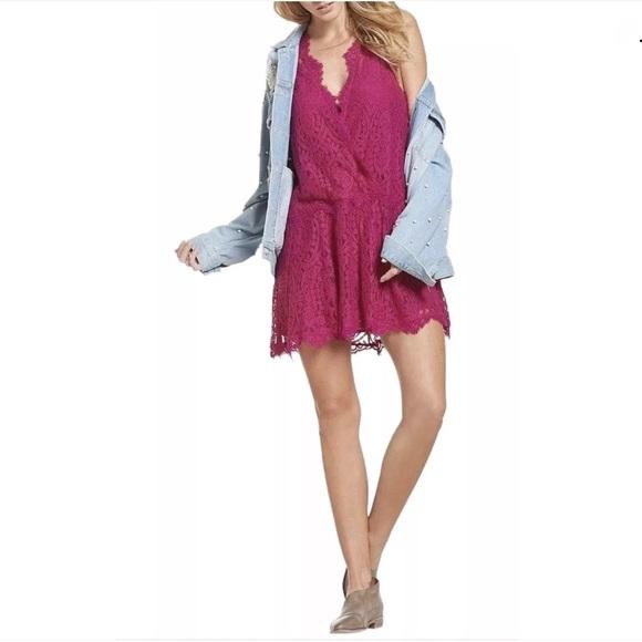 2c784656c77e4 Free People Dresses | Heart In Two Lace Mini Dress Medium | Poshmark